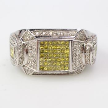 14k White Gold 22.5g Diamond Ring