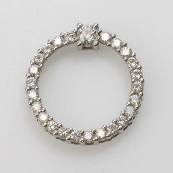14k White Gold 2.52g Diamond Pendant