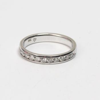 14k White Gold 3.23g Ring With Diamonds