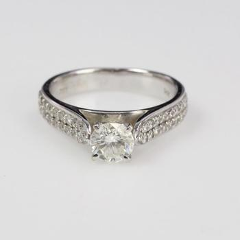 14k White Gold 4.09g Diamond Ring