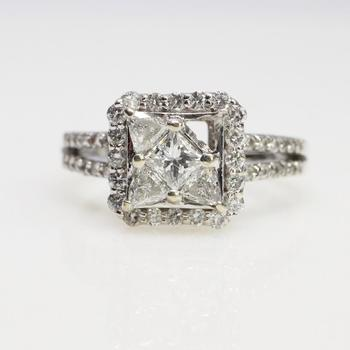 14k White Gold 5.56g 1.25ct TW Diamond Ring - Evaluated By Independent Specialist