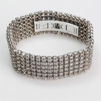 14k White Gold 8.64ct TW Diamond Bracelet - Evaluated By Independent Specialist