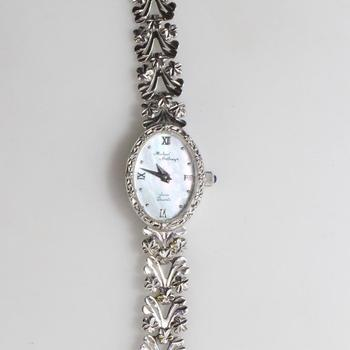 14k White Gold Diamond Accented Michael Anthony Watch
