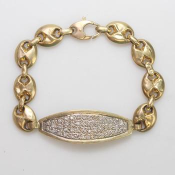 14kt And 10kt Gold 21.7g Diamond Bracelet