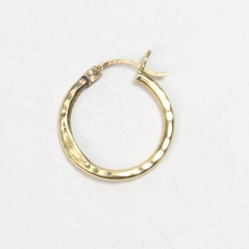 14kt Gold 0.77g Single Hoop Earring