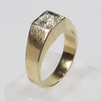 14kt Gold 0.90ct Vintage American Cut Diamond Ring - Evaluated By Independent Specialist