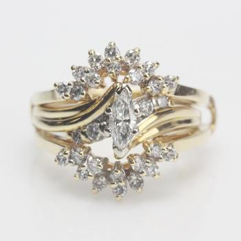 14kt Gold 0.95ct TW Diamond Bridal Set - Evaluated By Independent Specialist