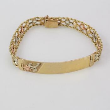 14kt Gold 14.41g ID Bracelet