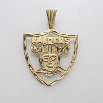14kt Gold 1.88g Raiders Pendant