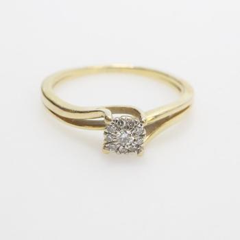 14kt Gold 1.95g Diamond Ring