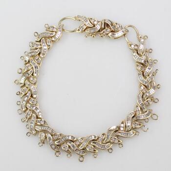 14kt Gold 22.72g Bracelet With Diamond Accents
