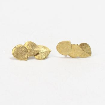 14kt Gold 2.4g Leaf Earrings