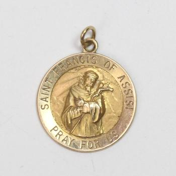 14kt Gold 2.66g Religious Pendant