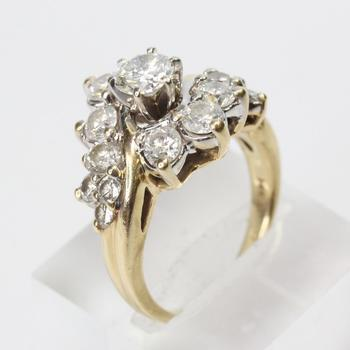14kt Gold 2.96ct TW Round Brilliant Cut Diamond Ring - Evaluated By Independent Specialist
