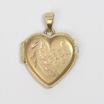 14kt Gold 4.00g Heart Shaped Locket