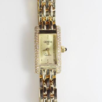 14kt Gold 41g Diamond Geneve Watch