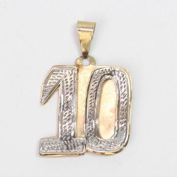 14kt Gold 4.28g '10' Pendant