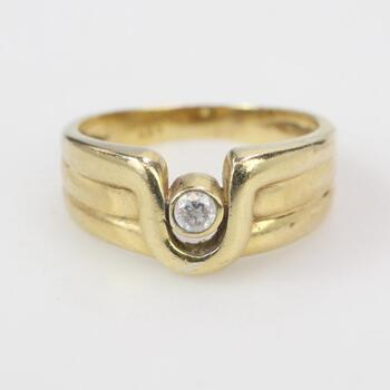 14kt Gold 5.74g Ring With Clear Stone