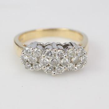 14kt Gold 5.92g Ring With Diamond Accents