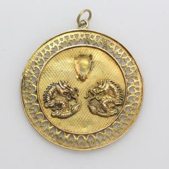 14kt Gold 7.58g Chinese Pendant