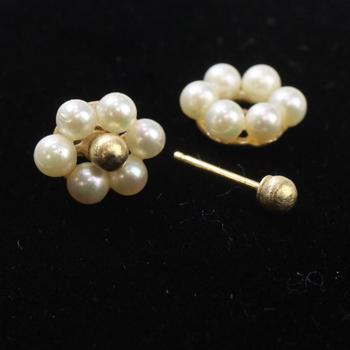14kt Gold And Pearl 1g Earrings