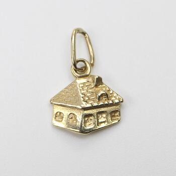 14kt Gold House Pendant