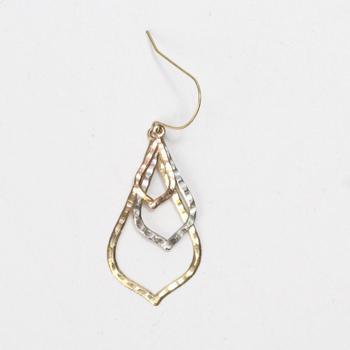 14kt Tri- Tone Gold 0.74g Single Dangle Earring