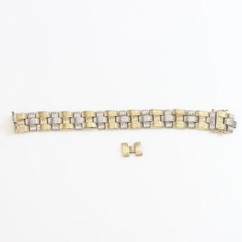 14kt Two Tone Gold 22.37g Bracelet