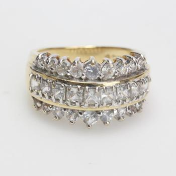14kt Two-toned Gold 7g Diamond Ring