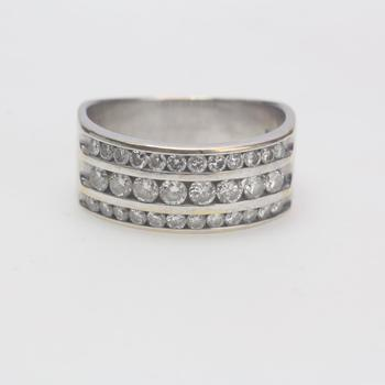 14kt White Gold 7.05g Ring With Diamond Accents