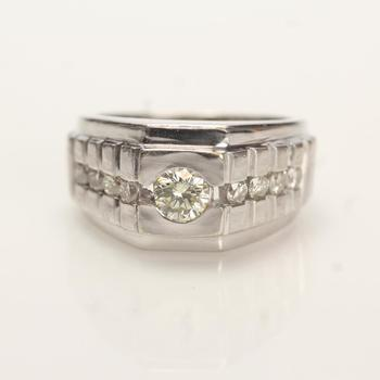 14kt White Gold .98Ct TW Diamond Ring - Evaluated By Independent Specialist