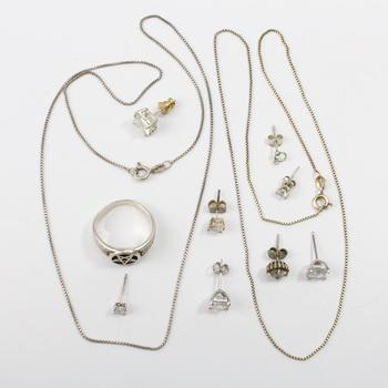 16.00g Silver Jewelry, 11 Pieces