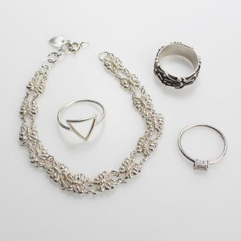 16g Silver Jewelry, 4 Pieces