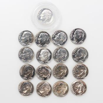 17 Proof Silver Roosevelt Dimes