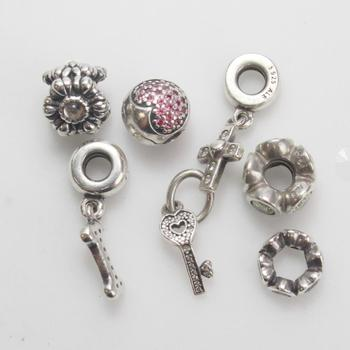 17.25g Silver Pandora Charms, 7 Pieces
