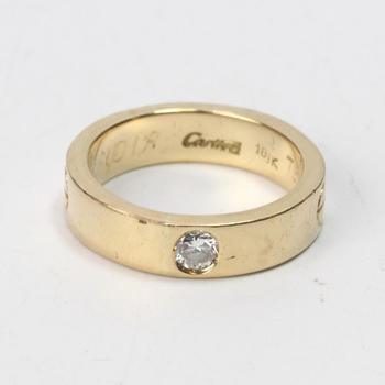 17k Gold 11.71g Ring With Diamond