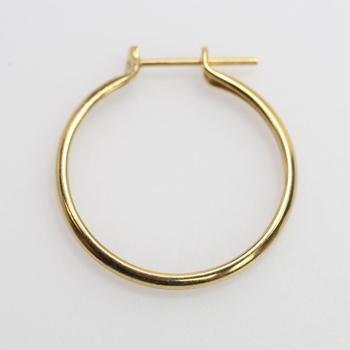 17kt Gold 0.79g Single Hoop Earring