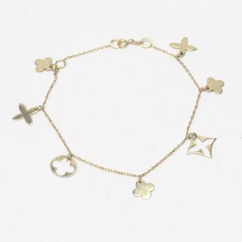 17kt Gold 2.88g Charm Bracelet