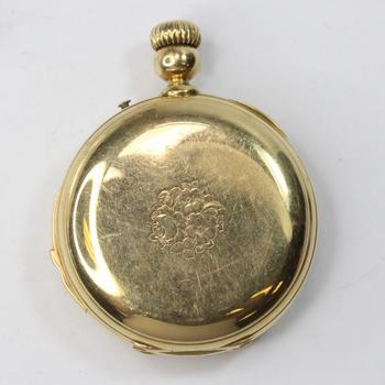17kt Gold E. Roberts Mariet Ponts-Martel Suisse Pocket Watch