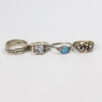 18.04g Silver Jewelry, 4 Pieces