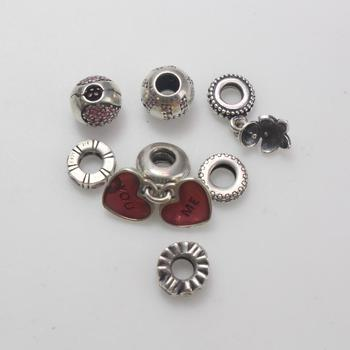 18.05g Silver Pandora Charms, 7 Pieces