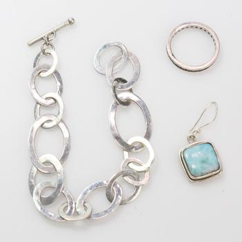 18.4g Silver Jewelry, 3 Pieces