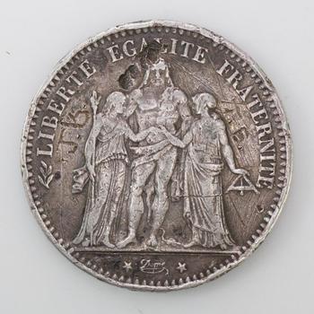 1874 Silver 5 Francs
