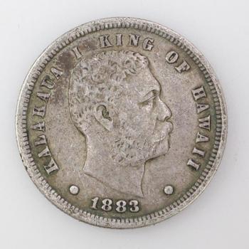 1883 Silver Hawaiian Dime