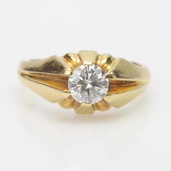 18k Gold 1.02ct Diamond Ring - Evaluated By Independent Specialist