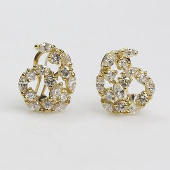 18k Gold 2.68ct TW Diamond Earrings - Evaluated By Independent Specialist