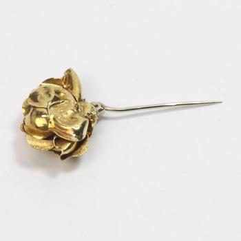 18k Gold 5.60g Rose Pin