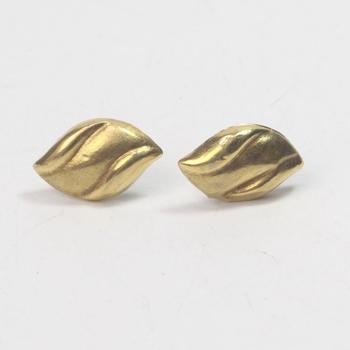 18kt Gold 1.54g Pair Of Earrings