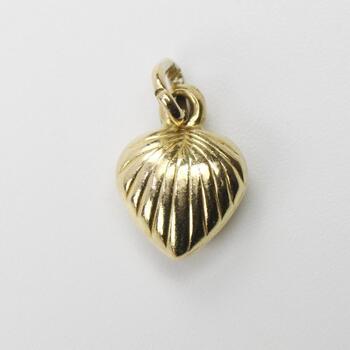 18kt Gold Puffy Heart Pendant