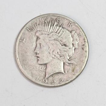 1922-S Silver Peace Dollar